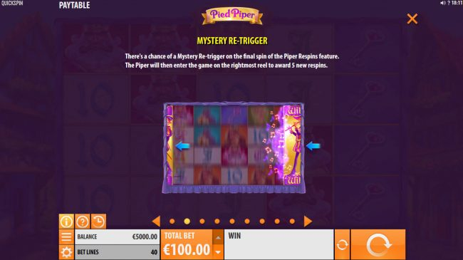 VIP Casino featuring the Video Slots Pied Piper with a maximum payout of $150,000