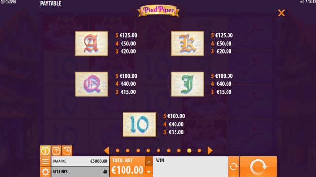 HippoZino featuring the Video Slots Pied Piper with a maximum payout of $150,000