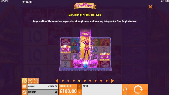 7Bit featuring the Video Slots Pied Piper with a maximum payout of $150,000
