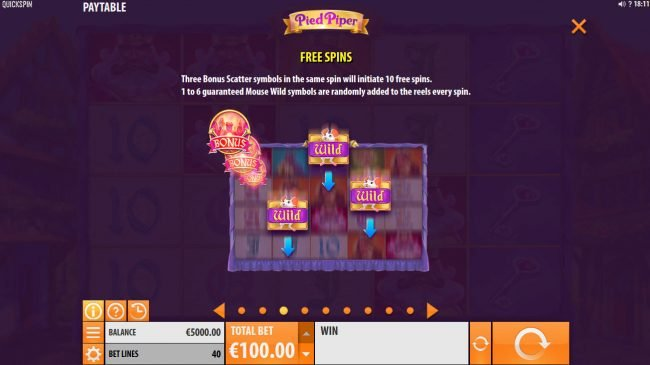 Casinia featuring the Video Slots Pied Piper with a maximum payout of $150,000