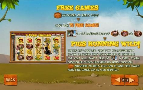Omni featuring the Video Slots Piggies and the Wolf with a maximum payout of $250,000