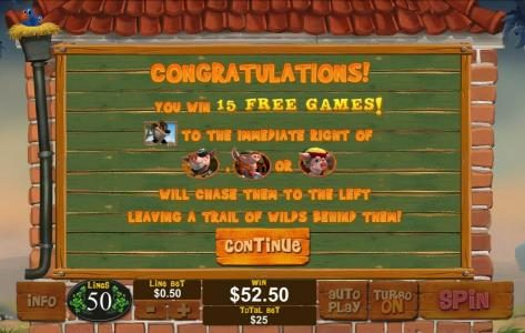 Piggies and the Wolf :: 15 free games awarded