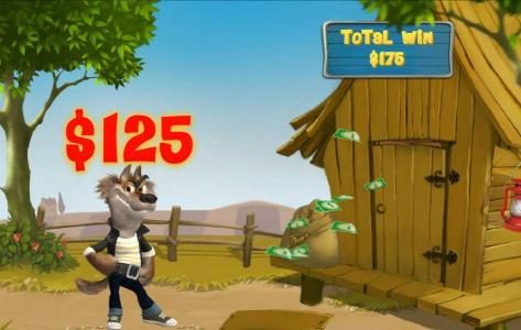 Piggies and the Wolf :: The first attempt at blowing down the wood house awards a $125 prize