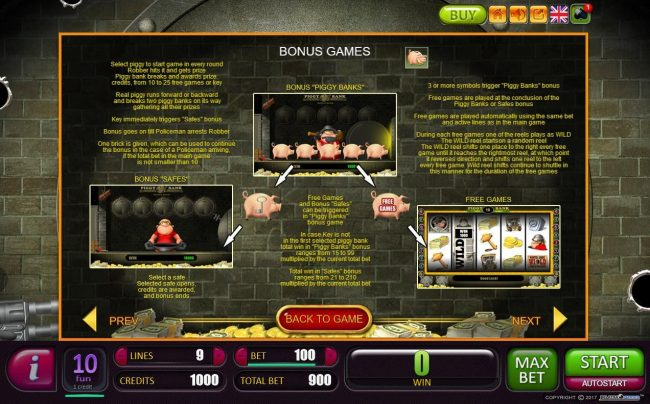 Play 24 Bet featuring the Video Slots Piggy Bank with a maximum payout of $2,000,000