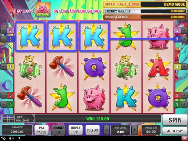 Shadowbet featuring the Video Slots Piggy Bank with a maximum payout of $150,000