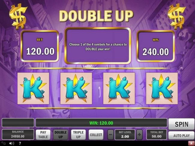 Piggy Bank :: Double Up Gamble Feature Screen