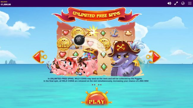 Piggy Pirates :: Free Spins Rules