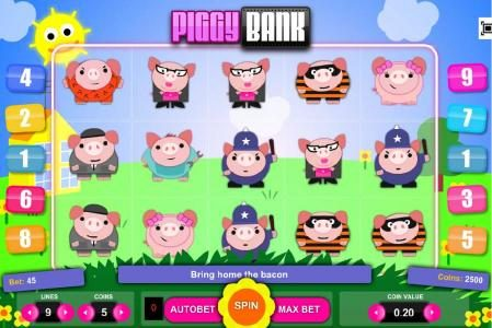 Play slots at Viggoslots: Viggoslots featuring the Video Slots Piggy Bank with a maximum payout of $1,875
