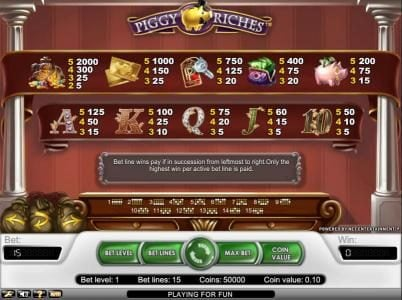 Play slots at Vera&John: Vera&John featuring the Video Slots Piggy Riches with a maximum payout of $30,000