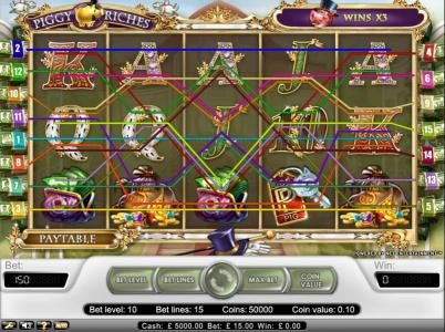 Vegas Baby featuring the Video Slots Piggy Riches with a maximum payout of $30,000