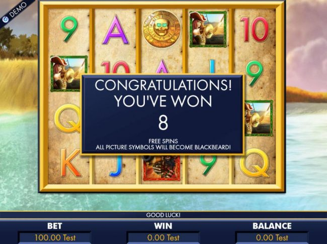 8 Free Spins triggered randomly