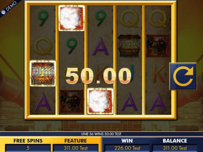 Multiple winning paylines triggers a big win during the Free Spins feature!