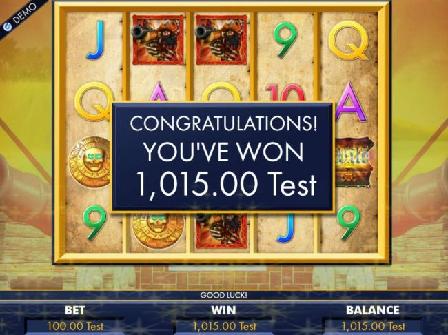 Free Spins feature pays out a total of 1,015.00