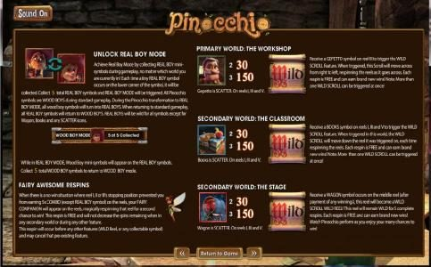 BetOnline featuring the Video Slots Pinocchio with a maximum payout of  $2,500