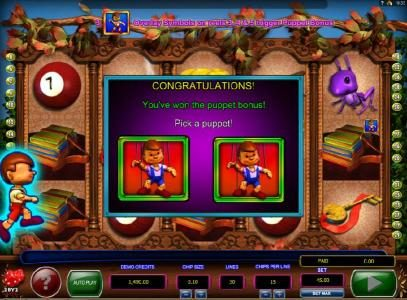 NetBet featuring the Video Slots Pinocchio's Fortune with a maximum payout of $3,000