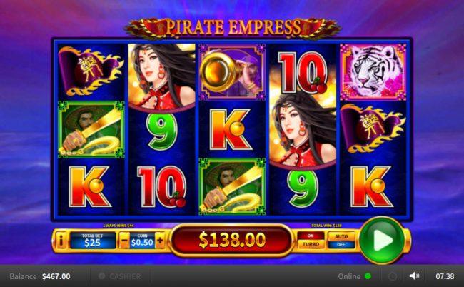 Pirate Empress :: Multiple winning combinations