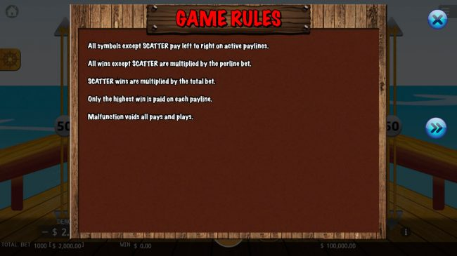 Pirate King :: General Game Rules
