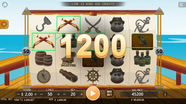 Pirate King :: Multiple winning paylines