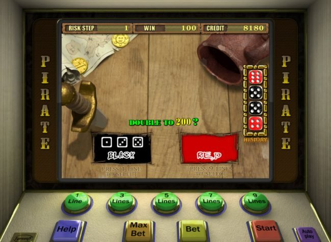 Pirate :: Gamble Feature Game Board