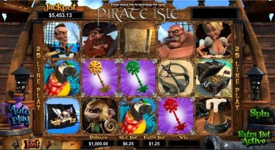Planet 7 featuring the Video Slots Pirate Isle with a maximum payout of Jackpot