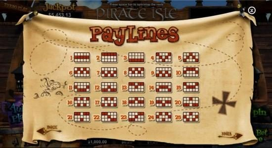Las Vegas USA featuring the Video Slots Pirate Isle with a maximum payout of Jackpot
