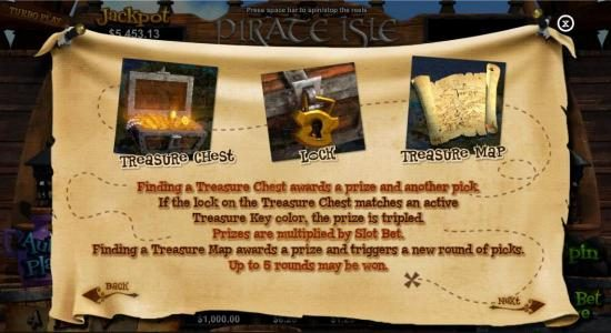 Wild Vegas featuring the Video Slots Pirate Isle with a maximum payout of Jackpot