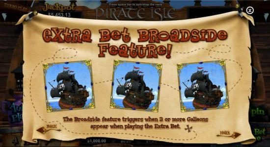 Casino Extreme featuring the Video Slots Pirate Isle with a maximum payout of Jackpot