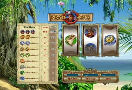 Casdep featuring the Video Slots Pirate Slots with a maximum payout of $10,000