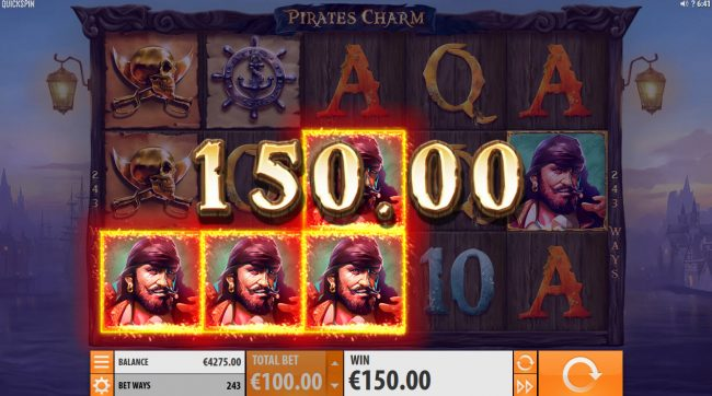 Play slots at House of Jack: House of Jack featuring the Video Slots Pirates Charm with a maximum payout of $121,500