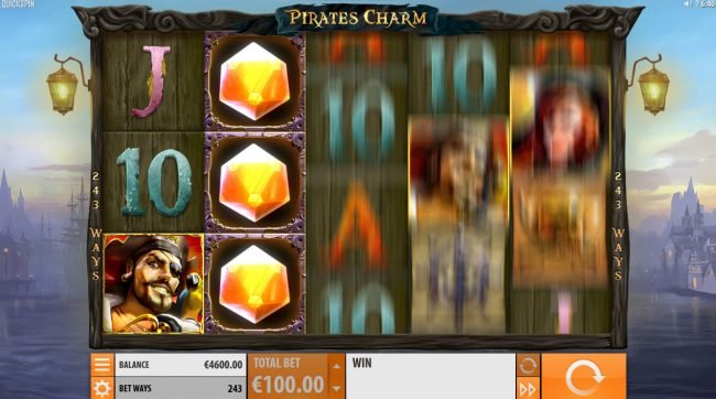 Slot Planet featuring the Video Slots Pirates Charm with a maximum payout of $121,500