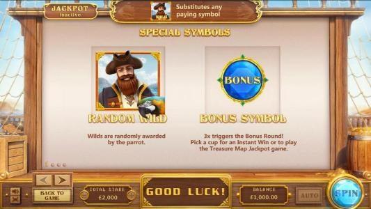 Pirates :: random wild and bonus symbol rules