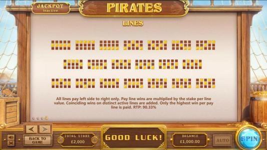 Pirates :: payline diagrams