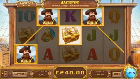 Pirates :: random wilds trigger a $240 big win