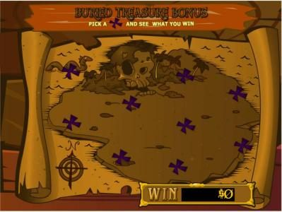 Buried Treasure Bonus Game - Pick an X and see what you win.