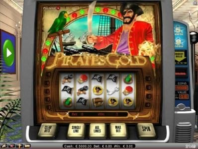 Play slots at Fruity Vegas: Fruity Vegas featuring the Video Slots Pirate's Gold with a maximum payout of $10,000
