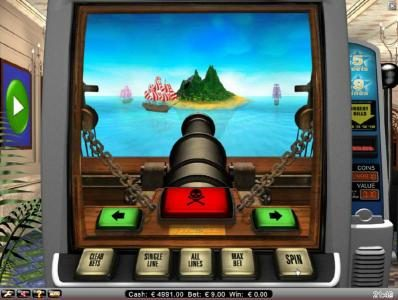 bonus feature game board - sink one of the ships to win a prize award