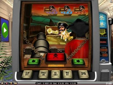 Mr Play featuring the Video Slots Pirate's Gold with a maximum payout of $10,000