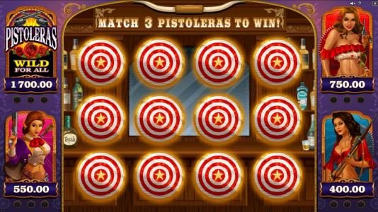 Casino Action featuring the Video Slots Pistoleras with a maximum payout of $550,000
