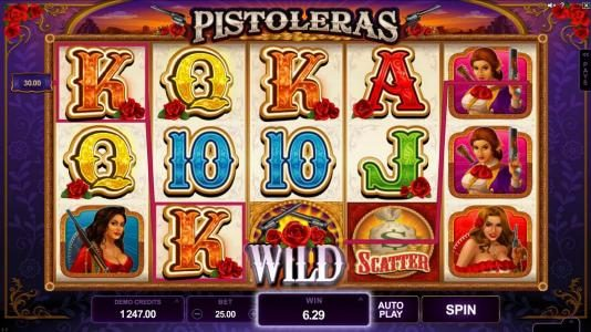 Simba Games featuring the Video Slots Pistoleras with a maximum payout of $550,000