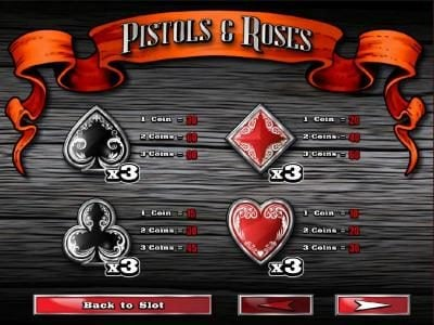 Desert Nights Rival featuring the Video Slots Pistols & Roses with a maximum payout of $45,000