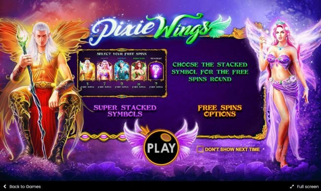 Game features include: Super Stacked Symbols and Free Spins