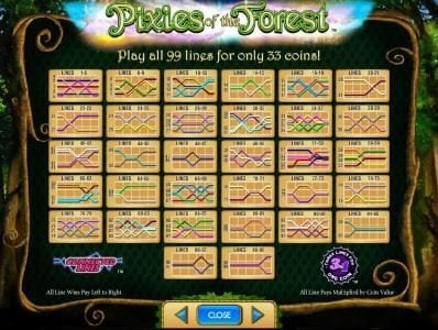 Queen Vegas featuring the Video Slots Pixies of the Forest with a maximum payout of $250,000