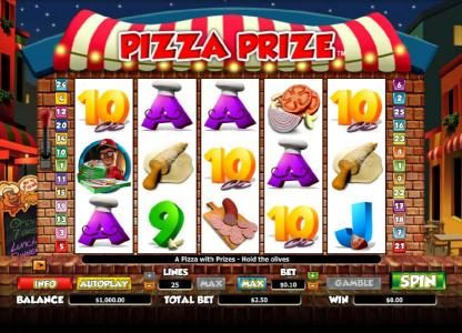Play slots at Sin Spins: Sin Spins featuring the Video Slots Pizza Prize with a maximum payout of $20,000