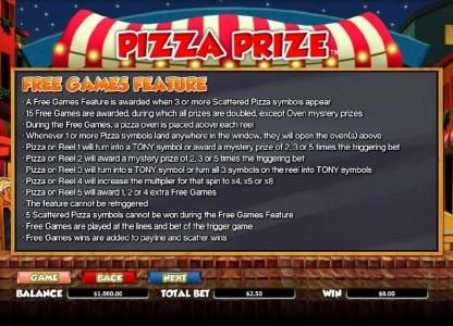 Betchan featuring the Video Slots Pizza Prize with a maximum payout of $20,000