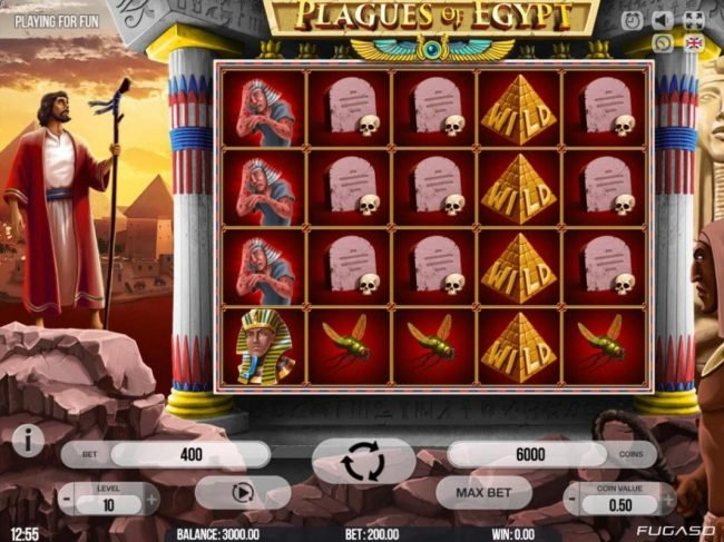 Diamond Club VIP featuring the Video Slots Plagues of Egypt with a maximum payout of $200,000