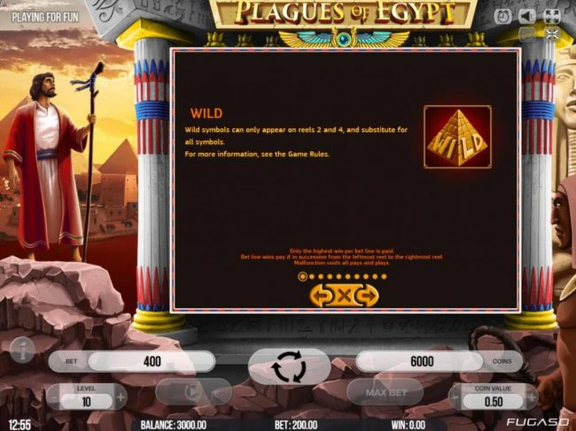 14 Red Casino featuring the Video Slots Plagues of Egypt with a maximum payout of $200,000