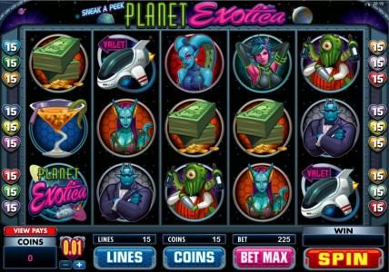 Play slots at Betway: Betway featuring the Video Slots Planet Exotica with a maximum payout of $10,000