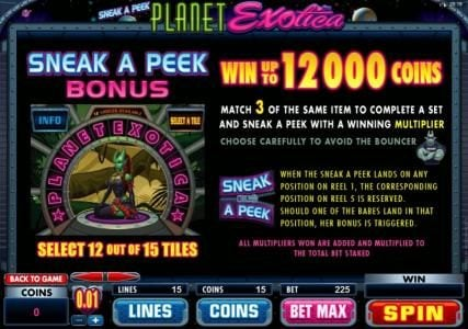 Monaco Aces featuring the Video Slots Planet Exotica with a maximum payout of $10,000