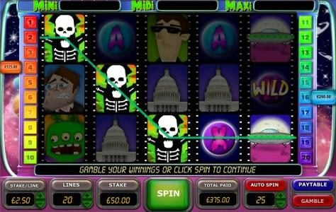 Gorilla featuring the Video Slots Planet X with a maximum payout of $6,250