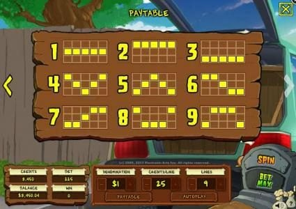 Plants vs. Zombies :: Payline Diagrams 1-9